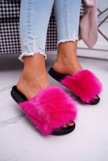 Dámske šľapky farba ružová kód obuvi CK107 FUCHSIA
