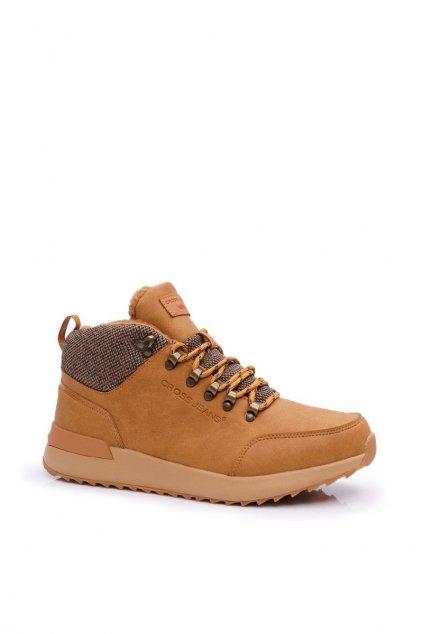 Pánske trekingové topánky farba hnedá kód obuvi EE1R4114C CAMEL