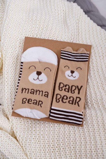 Sada dámskych a detských ponožek Soxo Mama Baby Bear