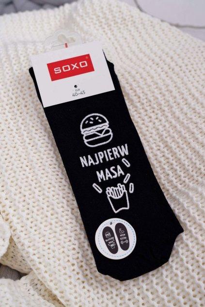 pánske Ponožky SOXO s nápisem