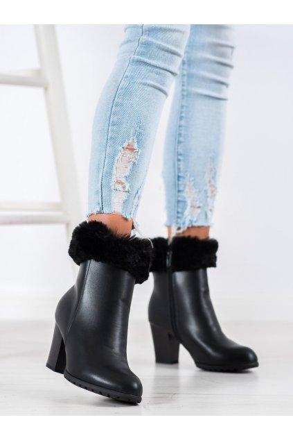 Čierne dámske topánky Goodin kod GD-BM-116B