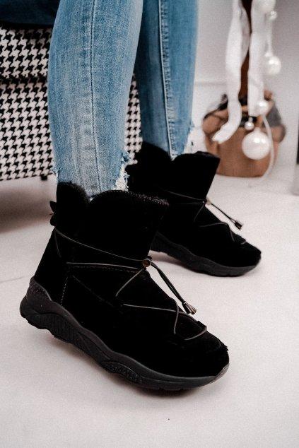 Dámske snehule farba čierna kód obuvi Y-01 BLK