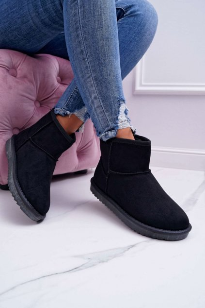 Dámske snehule farba čierna kód obuvi LV56P BLK