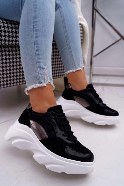 Dámska športová obuv s hrubou Podrážkou čierna Cardamon