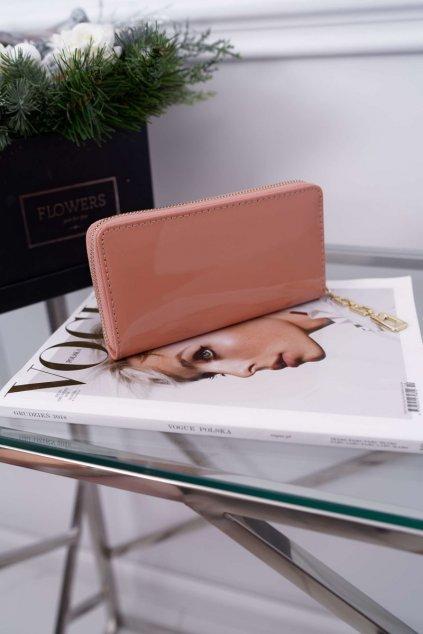 Dámska Peňaženka s Velkým ružovo-zlatým ozdobným zipem