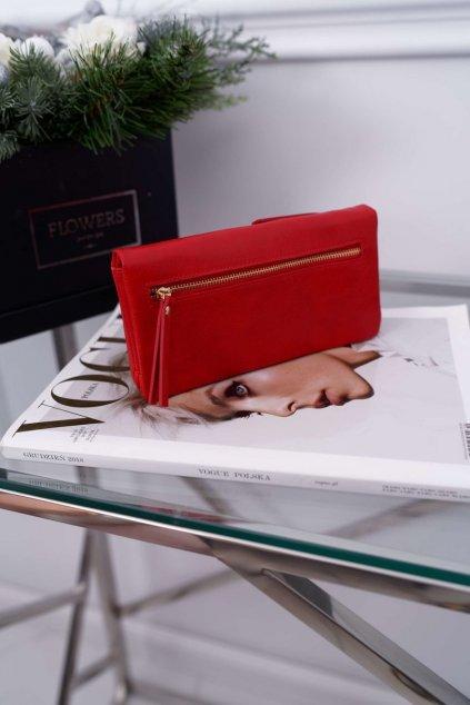 Dámska Peňaženka Velká červená se zapínáním na druk