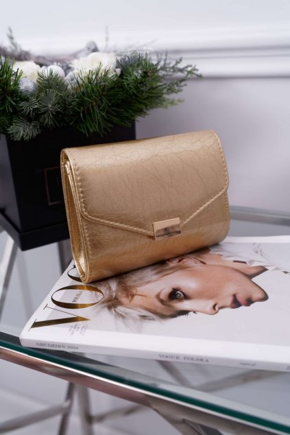 Dámska večerní kabelka zlatá