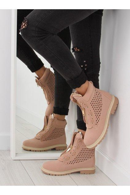 Dámske topánky na zimu ružové R103