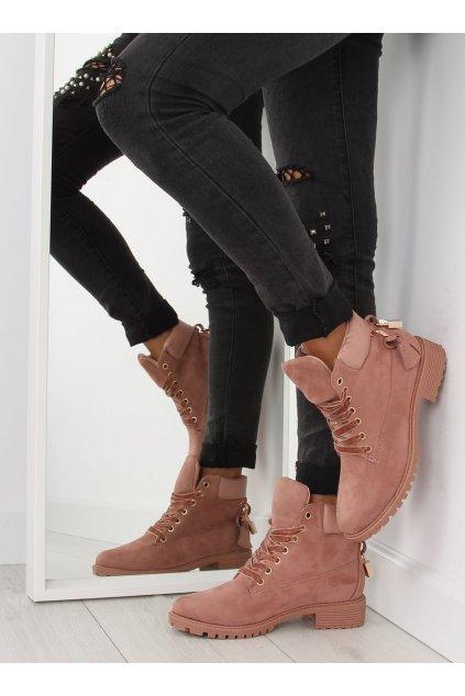 Dámske topánky na zimu ružové AT-0623-L