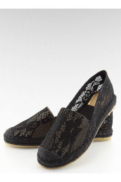 Dámske sandále čierne na plochom podpätku BB15P