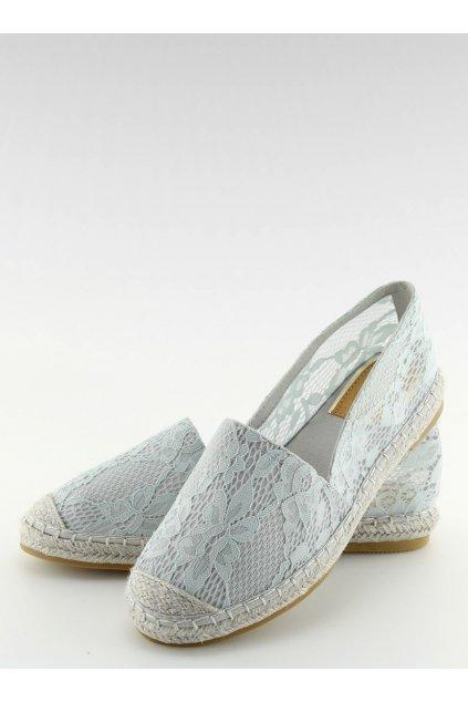Dámske sandále sivé na plochom podpätku BB15P