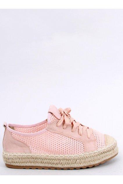 Dámske sandále ružové na plochom podpätku BB06P