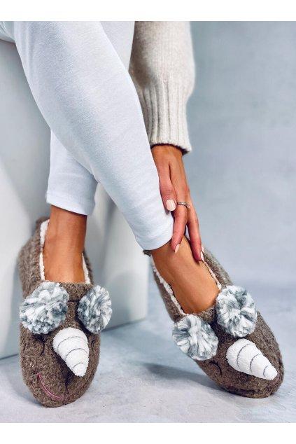 Damske ponožky hnedé DN2116