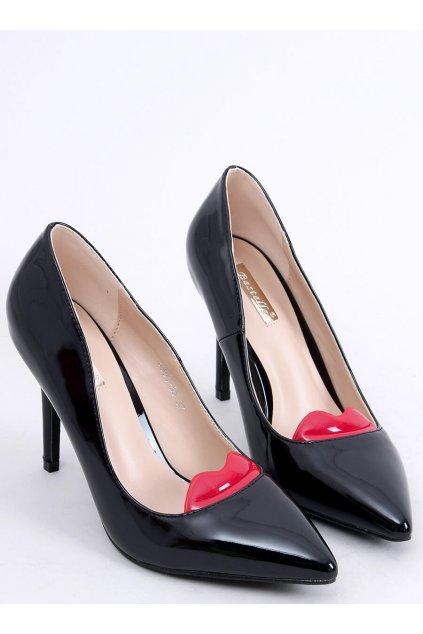 Damske lodičky čierne na ihlovom podpätku 5801-35ES-1
