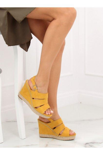 Damske sandále žlté na platforme 9069