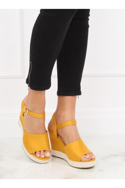 Damske sandále žlté na platforme FD-5M14
