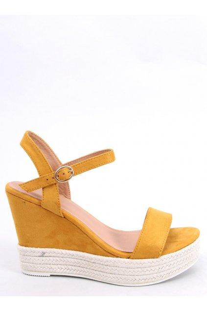 Damske sandále žlté na platforme JS-2952