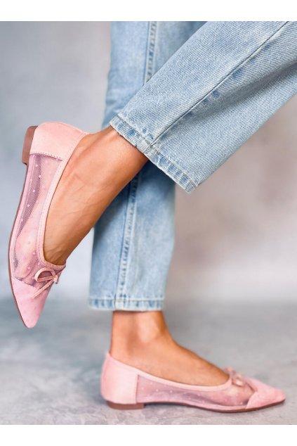Dámske baleríny ružové LT119P