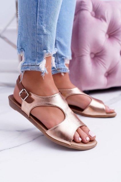 Lehké zlaté Sandále Kongito