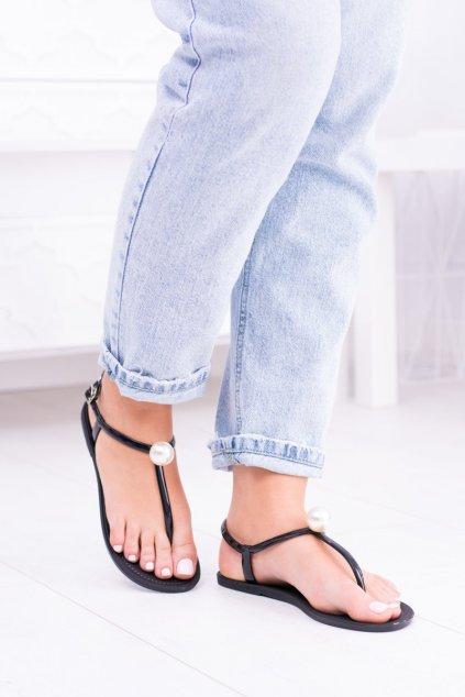 čierne Dámske Sandále Meliski s Pearl Contiro