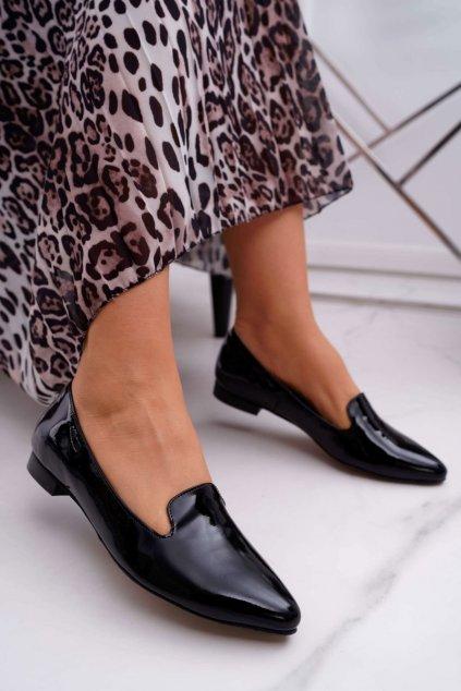 Dámske mokasíny farba čierna kód obuvi 2460 CZARNY/L