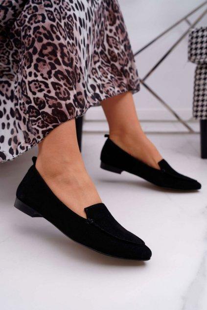 Dámske mokasíny farba čierna kód obuvi 2462 CZARNY/W