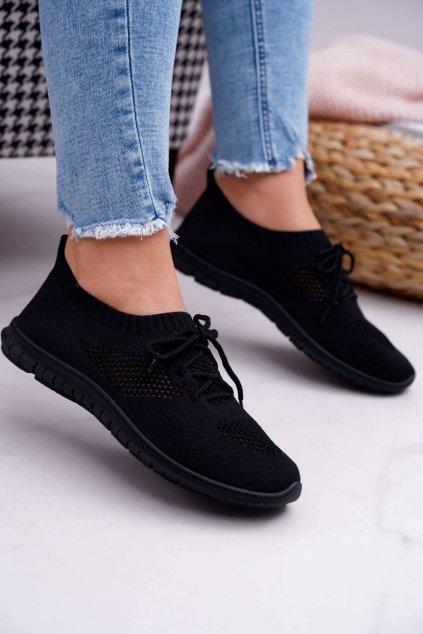 Dámske tenisky farba čierna kód obuvi 9TX02-1020 BLK