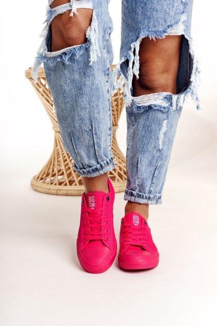 Dámske tenisky farba ružová kód obuvi AA274013 FUCHSIA