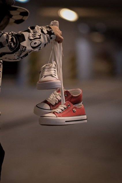 Detské tenisky farba červená kód obuvi FF374201 RED