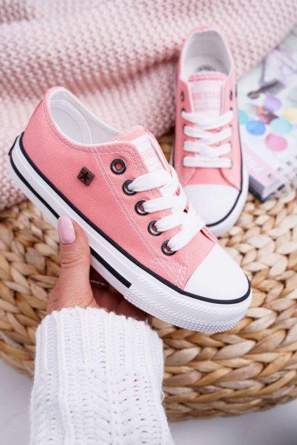Detské tenisky farba oranžová kód obuvi FF374204 SALMON