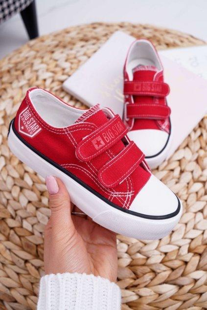Detské tenisky farba červená kód obuvi FF374063 RED