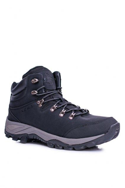 Pánska treková obuv zateplené čierne Jax 7TR85-0099 BLK