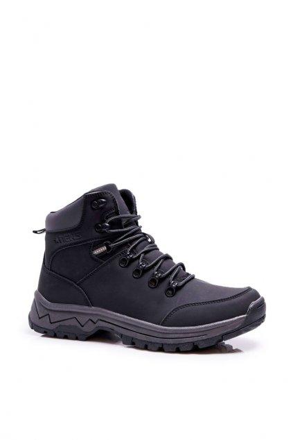 Pánske traperky zateplené čierne topánky Derex 9TR85-1420 BLK