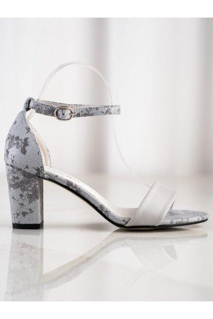 Sivé sandále na hrubom podpätku Goodin kod GD-FL281G