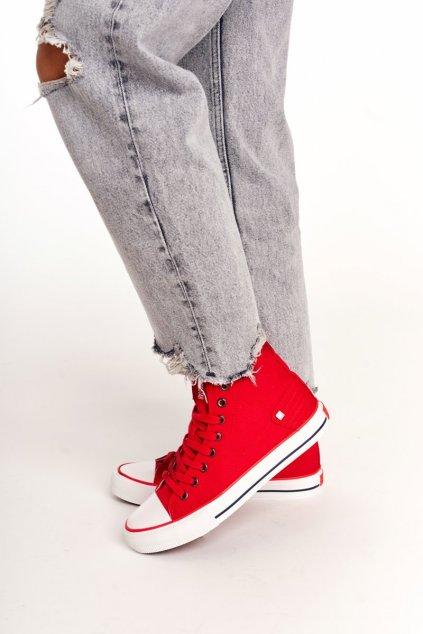 Dámske tenisky farba červená kód obuvi DD274334 RED