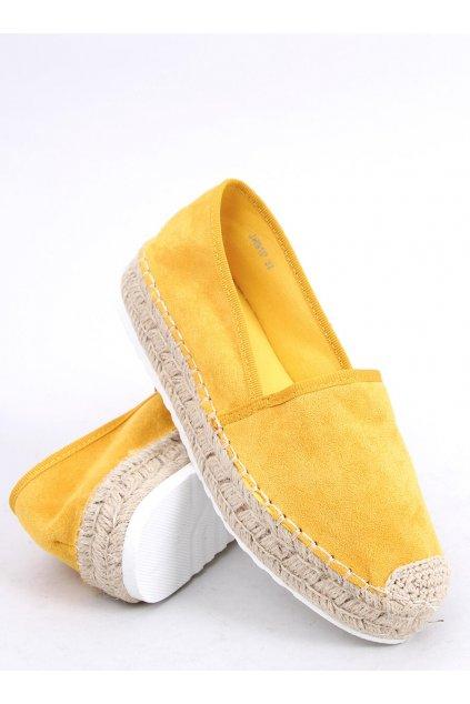 Dámske sandále žlté na plochom podpätku JH91P