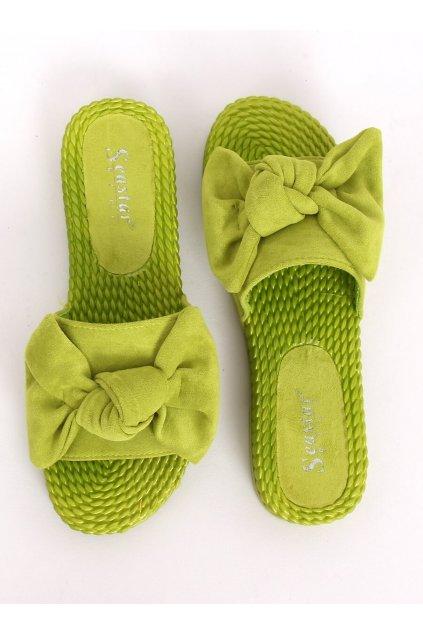 Damske šľapky zelené YQ225P
