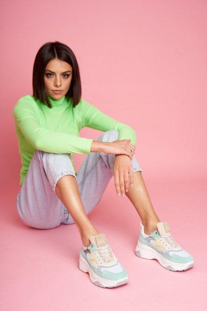 Dámske tenisky farba biela kód obuvi FF2N3011 MINT MULTI