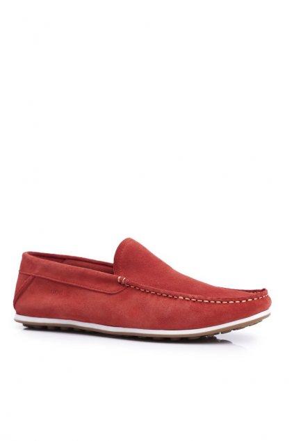 Pánske poltopánky farba červená kód obuvi FF1N3055 RED
