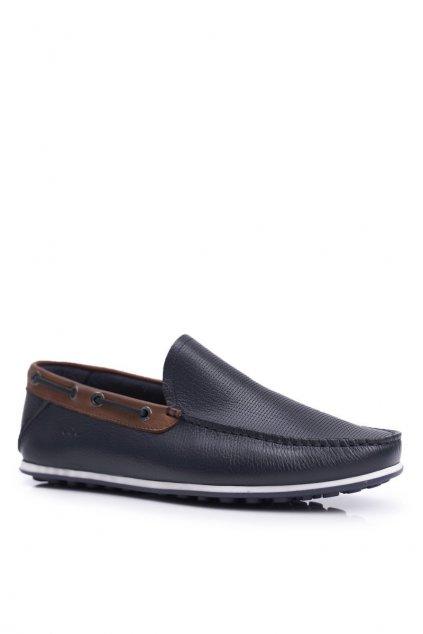 Pánske poltopánky farba modrá kód obuvi FF1N3051 NAVY