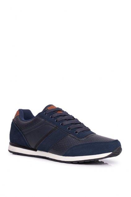 Športové pánske topánky Redox kožené tmavo modré