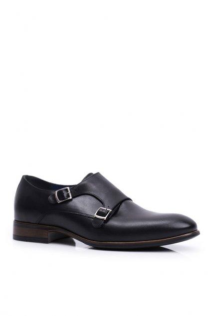 Pánske poltopánky farba čierna kód obuvi 1720 BLK D4