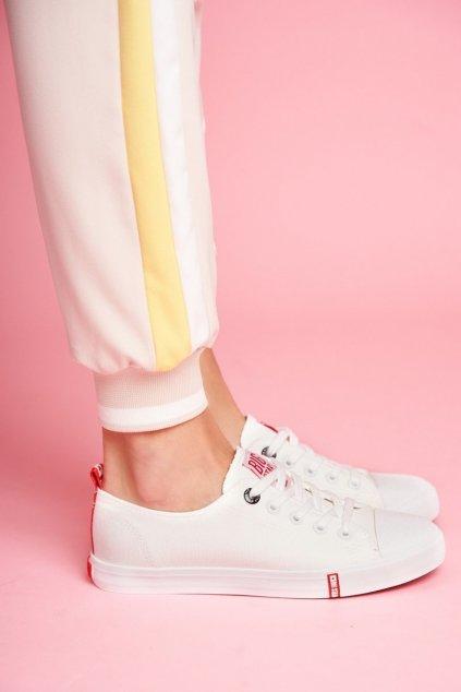 Dámske tenisky farba biela kód obuvi FF274087 WHITE/RED