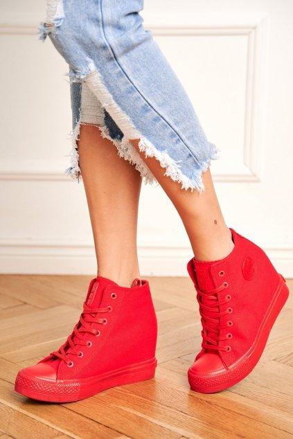 Dámska Obuv Sneakers B. Star Červená FF274A193