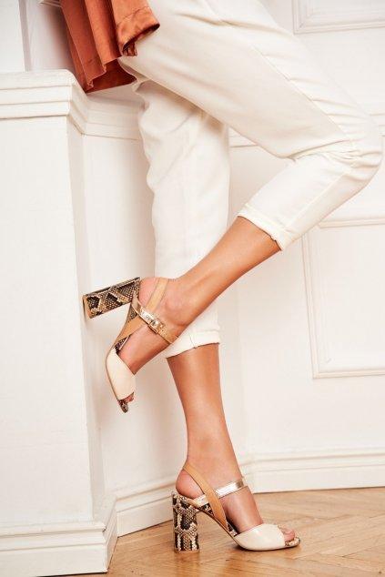 Dámske sandále farba hnedá kód obuvi 2136 184-288-227 BEIGE
