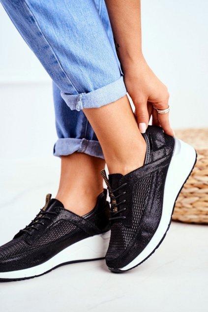 Dámske tenisky farba čierna kód obuvi 20PB32-1792 BLK