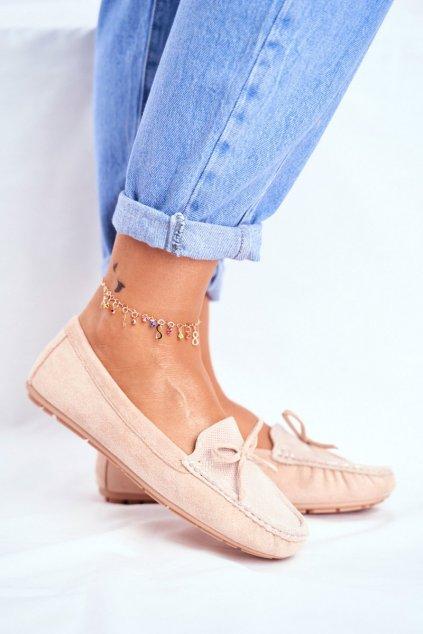 Dámske mokasíny farba hnedá kód obuvi A199-C BEIGE