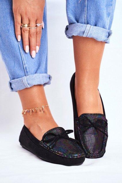 Dámske mokasíny farba čierna kód obuvi A199-C BLK