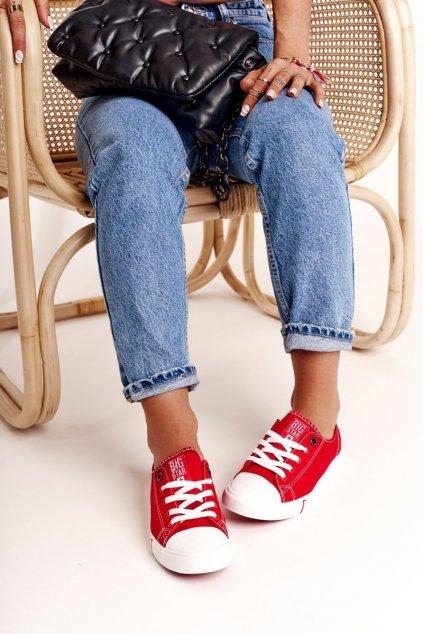 Dámske tenisky farba červená kód obuvi FF274089 RED