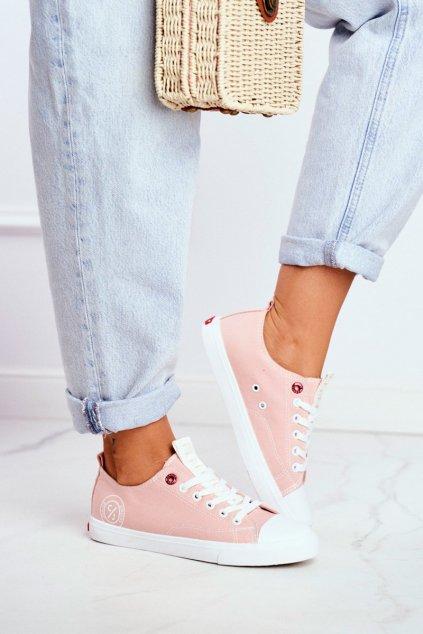 Dámske tenisky farba ružová kód obuvi FF2R4019C PINK